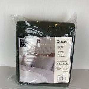 Shang-La Linen Charcoal Cashmere Ultra-Soft Flannelette Sheet Set Size Queen